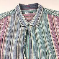 Tommy Bahama 2XLB TALL BIG Linen Mens Button Front Long Sleeve Casual Shirt