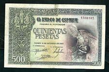More details for spain (p124) 500 pesetas 1940