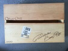 OpusOne - 2000 wooden wine box  - BROKEN TOP