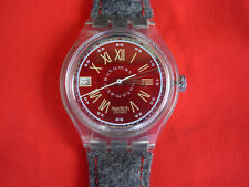 SWATCH AUTOMATIC GRAUE HUTTE - SAK400 - 1993 - NEW - leither/fabric strap