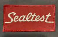 "Rare Old Original Vintage Sealtest Employee Uniform Patch 2""x4"""