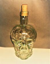 Unique Vintage Wine Bottle Skull Art Glass 500ml