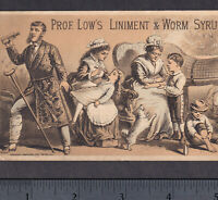 Magnetic Liniment Prof Lows Liver Pills Man or Beast Worm Syrup Cure Trade Card