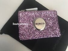 Mimco Sparks Fly Small Pouch Purple Glitter Amethyst BNWT's And Dust Bag