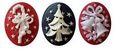 Ceramic Mold - Christmas - Polymer Clay, Ceramic or Porcelain Slip NEW DESIGN