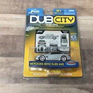 Jada Toys Dub City Euro-Spec Mercedes-Benz SL65 AMG Silver Die Cast 1/64