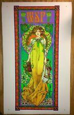 "Widespread Panic 30th Anniversary poster ""Summer"" variant Uncut Test Print Masse"