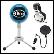 Blue Microphones Snowball USB Microphone with Stereo Headphones and Pop Filter