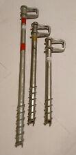 "Vintage rock climbing: 3 Salewa tubular ice screws 6"" - 8"" - 12"" light usage"