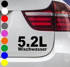 WD Adesivi per auto 5.2 Litro Acqua tergicristallo Messa punto OEM BMW VW OPEL