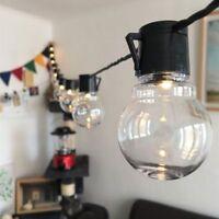 20x LED Hängend Bulb Glühbirne Lichterkette Innerhalb im Freien Garten Dekor