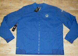 Nike Indianapolis Colts Shield On-Field Bomber Jacket MSRP $200 Men's Large
