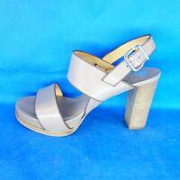 Trumans Damen Schuhe Sandaletten Pumps Slingback Braun Leder Gr 38,5 Np 270 Neu