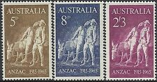 Australia 1965 ANZAC 50th Anniversary Gallipoli (3) Unhinged Mint, SG 373-5