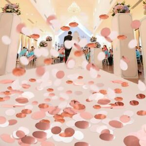 Rainbow Circles Confetti Biodegradable Kids Party Wedding Throwing Decor 6000pcs