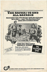 Original • THE SOUTHERN STAR • 1969 • Ursula Andress • Complete • Unfolded