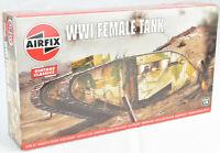 Airfix Vintage Classic WWI Female Tank 1:76 Scale Plastic Model Tank A02337V
