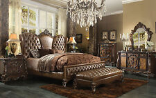 NEW Traditional Brown 5 piece Bedroom Set Furniture w/ King Size Panel Bed IAA7