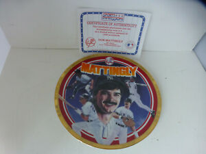 1994 Don Mattingly Sports Impression plate 8.5 inch New York Yankees Baseball