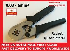 Quadrilateral Crimp Tool, Bootlace Ferrules Cord End Terminals 0.25 - 6mm²