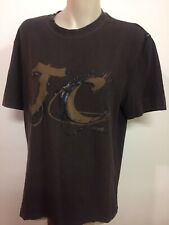 Mens Top SzL Just Cavalli Brown Made In Italy Free Post