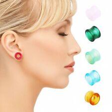 1Pc Hollow Glass Flesh Tunnels Ear Plugs Expander Stretcher Gauges Piercing