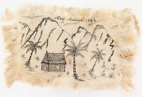 .WW2 1944 NEW GUINEA HAND-DRAWN SKETCH.