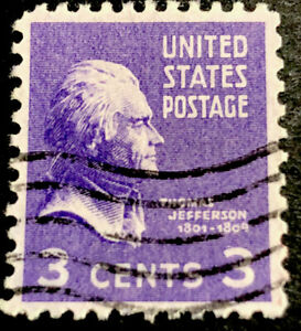 ODZ & ENDZ STOCK CARD  USED 110 3¢ - SCOTT#: 807 - THOMAS JEFFERSON 2165