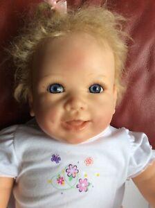 "Linda Murray ADG Lifelike Reborn Baby Doll blue  Eyes Life Like Dolls Babies 25"""
