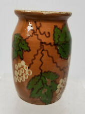 Antique Hungarian Majolica Maiolica Pottery Vase Floral Unsigned