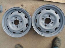 Volkswagen 131 OEM VW BEETLE/GHIA 15x4.5 4x130mm Steel Silver Ea Wheel 131-54530