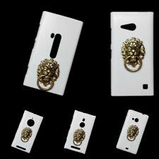 For Nokia Metal Bronze Lion Head Finger Ring Stand Holder Back Hard Case Cover