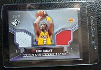 2005 UPPER DECK SPX KOBE BRYANT DUAL GAME USED JERSEY LOS ANGELES LAKERS #15/25
