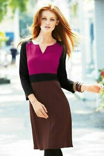 NEXT Burgundy / Black and pink Long Sleeve Tailored Formal Dress Work Career