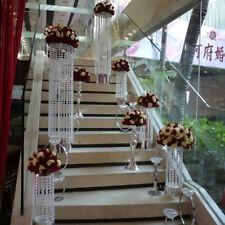 Crystal Acrylic Clear Bead Chandelier Garland Hanging Decor Wedding 3.3 FT G1T5