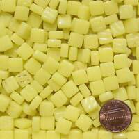 8mm Mosaic Glass Tiles - 2 Ounces About 87 Tiles - Light Cad Yellow