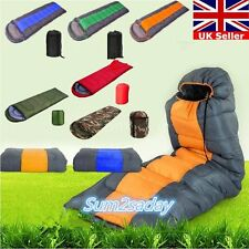 3 Season Adult Waterproof Envelope Sleeping Bag Camping Hiking Suit Case Zip