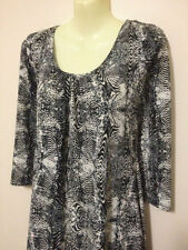 Polyester Animal Print 3/4 Sleeve Tunic Tops for Women