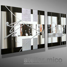 abstrakt Moderne Malerei original KUNST Acrylbild Leinwand Bilder MICO 110x50 XL