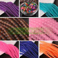 Wholesale 4mm 6mm 8mm 10mm 12Colors Round Charms Glass Loose Spacer Beads Making