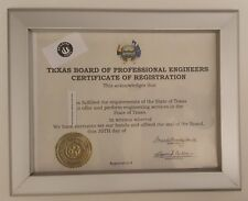certificate frame state of TEXAS 8.5 x 11 ( Heavy Duty)