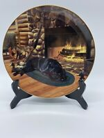 "Day's End by Scot Storm ""Faithful Companions"" Collector Plate By Danbury Mint"