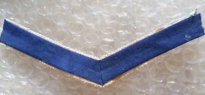 British Army Lance Corporals Cloth Chevron Insignia Rank Stripes- USED- Blue