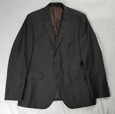 Hugo Boss Super 100 Wool Blazer Men's 42R Gray Crosshatch