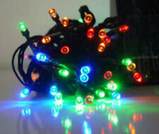 Solar LED String Lights 3 Color 2 Functions Outdoor Garden Patio SQ NEW