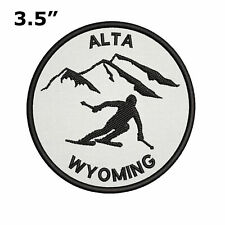 Alta Wyoming Extreme Sports Skier Embroidered Iron-On / Sew-On Patch Badge Gift