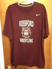 ROSSFORD BULLDOGS athletic tee 2XL wrestling High School T shirt Nike Dri-Fit