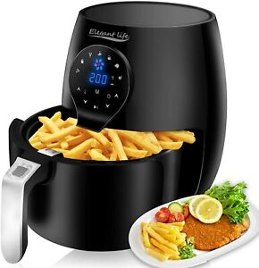 HOBO Air Fryer 3.7 QT Electric Hot Oven LCD Touch Digital Screen Recipes Book