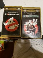 GHOSTBUSTERS 1& 2 video set Family Collection GOLD Clamshell Case (VHS, 1996)