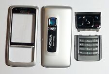 Silver Cover Housing Fascia facia faceplate Case skin for Nokia 6288